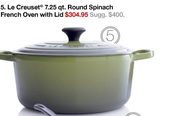 5. Le Creuset® 7.25 qt. Round Spinach  French Oven with Lid