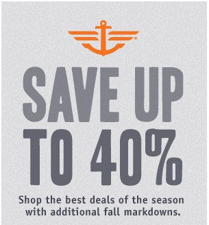 SAVE UP TO 40%. Shop the best deals of the season with additional fall markdowns.