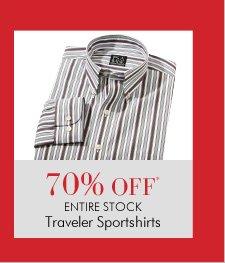 70% OFF* ENTIRE STOCK Traveler Sportshirts