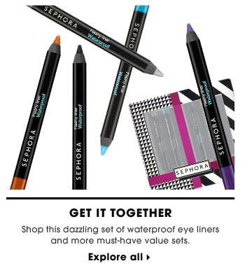 Get It Together | Shop this dazzling set of waterproof eye liners and more must-have value sets. | Explore all