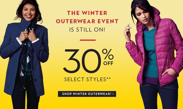 30% off select styles**