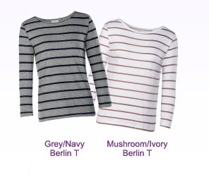 The Berlin in Grey/Navy And Mushroom/Ivory