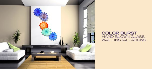 COLOR BURST: HAND BLOWN GLASS WALL INSTALLATIONS, Event Ends October 31, 9:00 AM PT >
