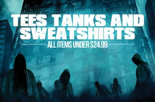 Tees, Tanks and Sweatshirts
