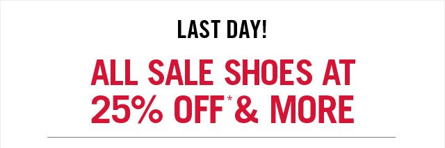 LAST DAY!  ALL SALE SHOES AT 25% OFF & MORE                       at www.aldoshoes.com/us/sale/women/sale-shoes