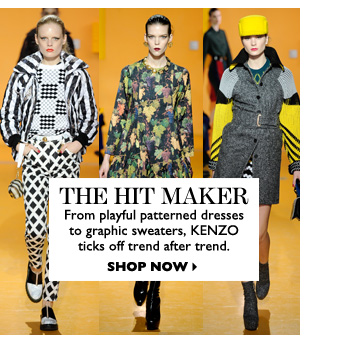THE HIT MAKER – From playful patterned dresses to graphic sweaters, KENZO ticks off trend after trend. SHOP NOW
