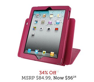 rooCASE 3-in-1 Kit - Convertible Leather Folio Case for New iPad and iPad 2