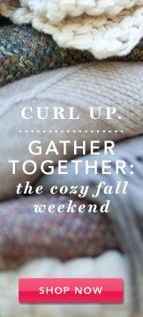Cozy Up. Shop Now.
