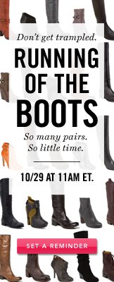Running of the boots. Set a Reminder.