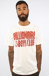 The Classic Straight Logo Tee in White & Red