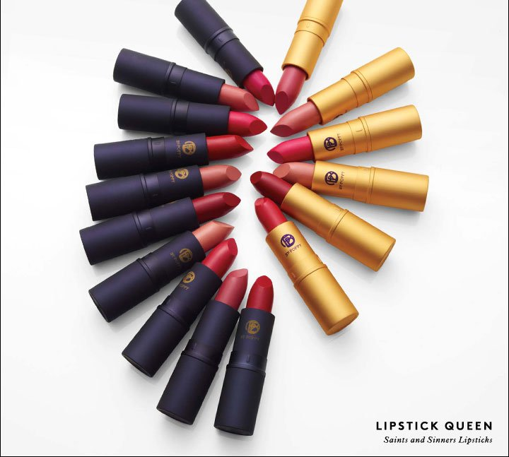 Shop Lipstick Queen's Saints and Sinners lipsticks and receive a FREE Invisible Lip Liner!