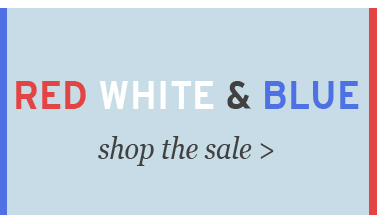 red, white, blue sale
