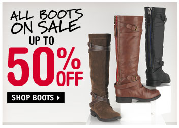 ALL BOOTS UP TO 50%  OFF