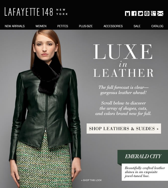 Fall Forecast: Gorgeous Leather Ahead!