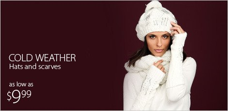 $9.99 Cold weather Hats and Scarves