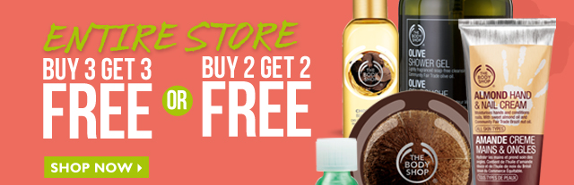 Entire Store - Buy 3 Get 3 Free OR Buy 2 Get 2 Free - Shop Now - *Does not combine with other offers.