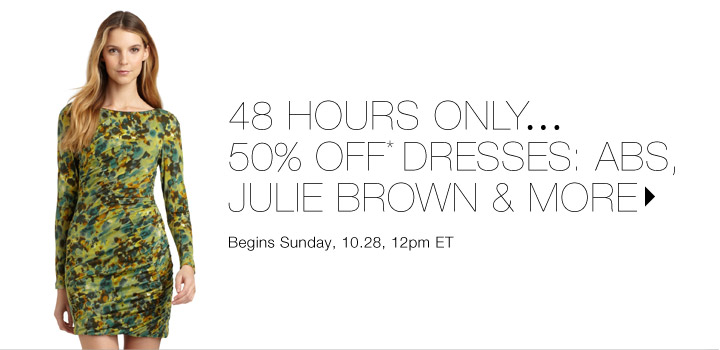 50% Off* Dresses: Julie Brown & more…Shop now