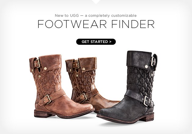 New to UGG - a completely customizable footwear finder - Get started