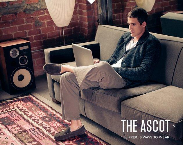 The ascot - 1 slipper. 3 ways to wear