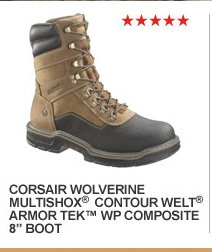 "Corsair Wolverine MultiShox Contour Welt ArmorTek WP Composite 8"" Boot"