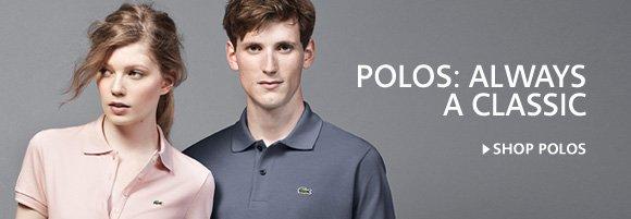 POLOS: ALWAYS A CLASSIC