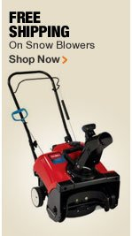 FREE SHIPPING ON SNOW BLOWERS