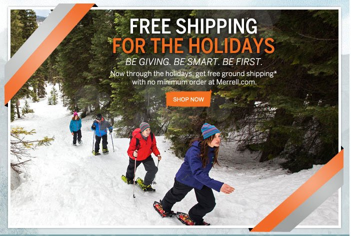 Free Shipping for the Holidays