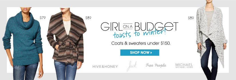 GIRL ON A BUDGET toasts to winter! SHOP NOW