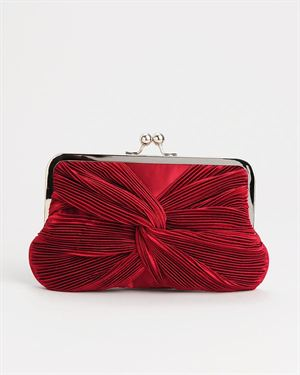 Le Vaunt French Seam Knotted Evening Bag $35