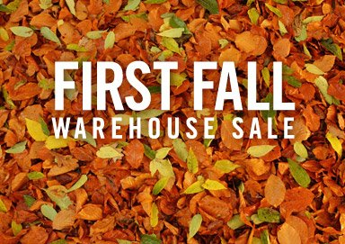 Shop First Fall Warehouse Sale