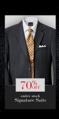 70% Off Signature Suits