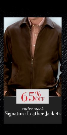 65% Off Signature Leather Jackets