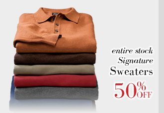 50% Off Signature Sweaters