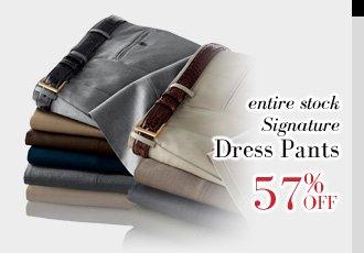 57% Off Signature Dress Pants