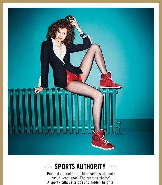 Sports authority  Pumped up kicks are this season's ultimate casual-cool shoe. The running theme? A sporty silhouette goes to hidden heights! SHOP NOW at at www.aldoshoes.com/us