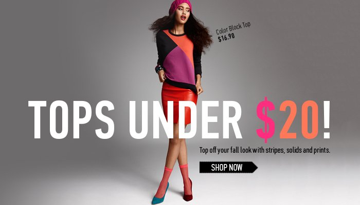 New Fall Tops Under $20 - Shop Now