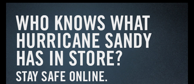 Who knows what hurricane sanday has in store? Stay Safe Online