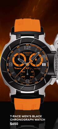 T-Race Men's Black Chronograph Watch $650