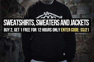 Sweatshirts, Sweaters, and Jackets