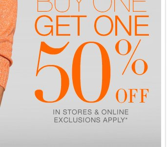 ALL Sweaters: Buy One Get One 50% Off! Shop Now