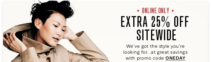 Extra 25% Off Sitewide