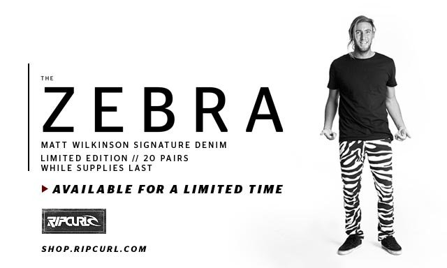 The Zebra - Matt Wilkinson Signature Denim - Limited Edition - 20 Pairs - While Supplies Last - Available For A Limited Time