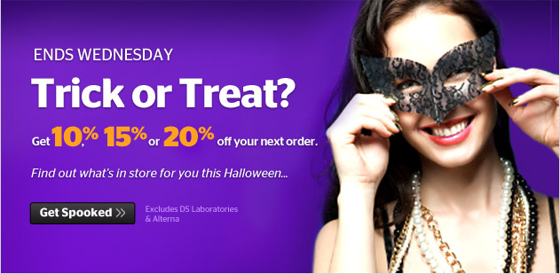 Trick or Treat - click to see what your offer will be