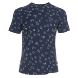 Paul Smith T-Shirts - Navy Moonstar Jacquard T-Shirt