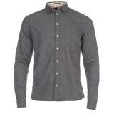 Paul Smith Shirts - Grey Brushed Cotton Shirt