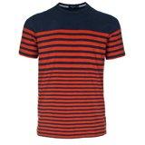 Paul Smith T-Shirts - Indigo And Orange Breton Striped T-Shirt