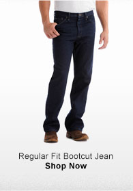 REGULAR FIT BOOTCUT JEAN SHOP NOW