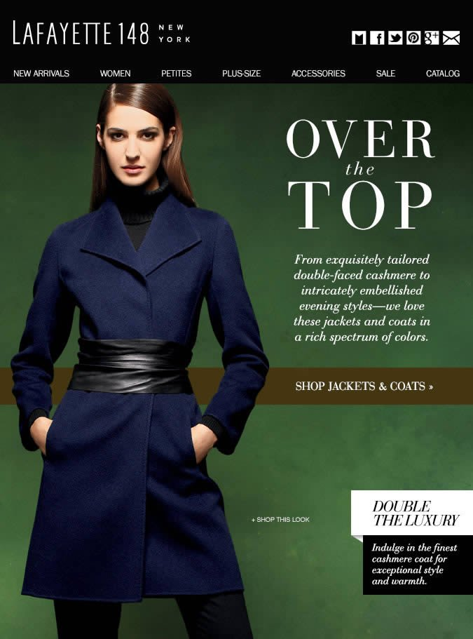 Over the Top: Luxurious Jackets & Coats
