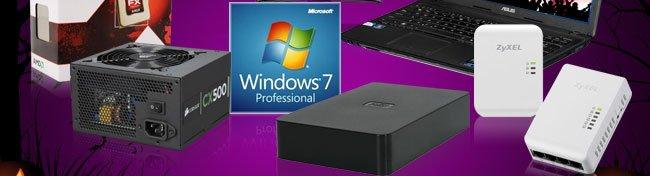 CPU, PSU, Win7, HDD, Networking