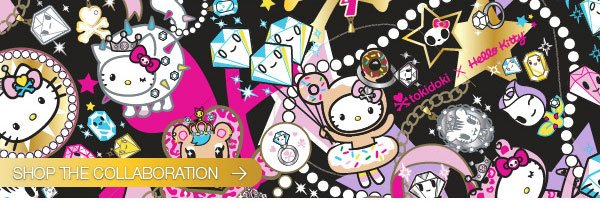 Presenting a collaboration between Hello Kitty and tokidoki